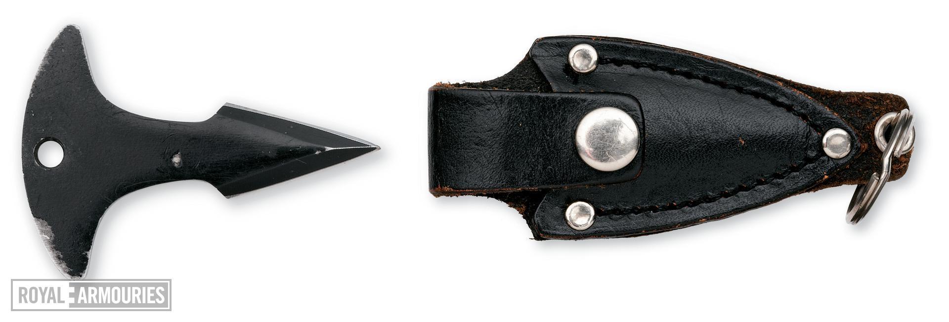 Punch dagger key-ring and sheath