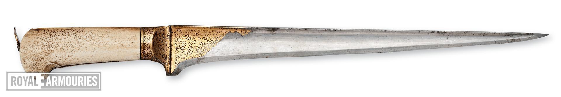 Dagger (peshkabz) With koftgari on hilt