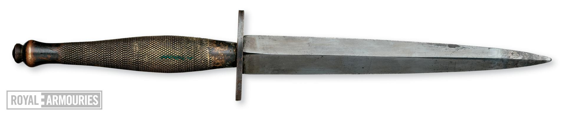 Fighting knife (Fairbairn- Sykes Fighting Knife, 2nd Pattern). British, 1941-43 (X.1654)