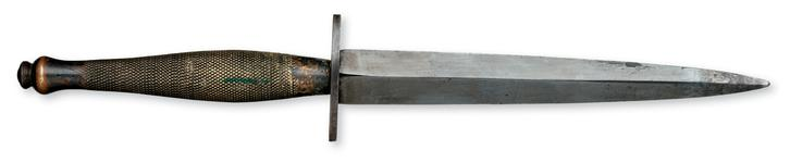 Thumbnail image of Fighting knife (Fairbairn- Sykes Fighting Knife, 2nd Pattern). British, 1941-43 (X.1654)