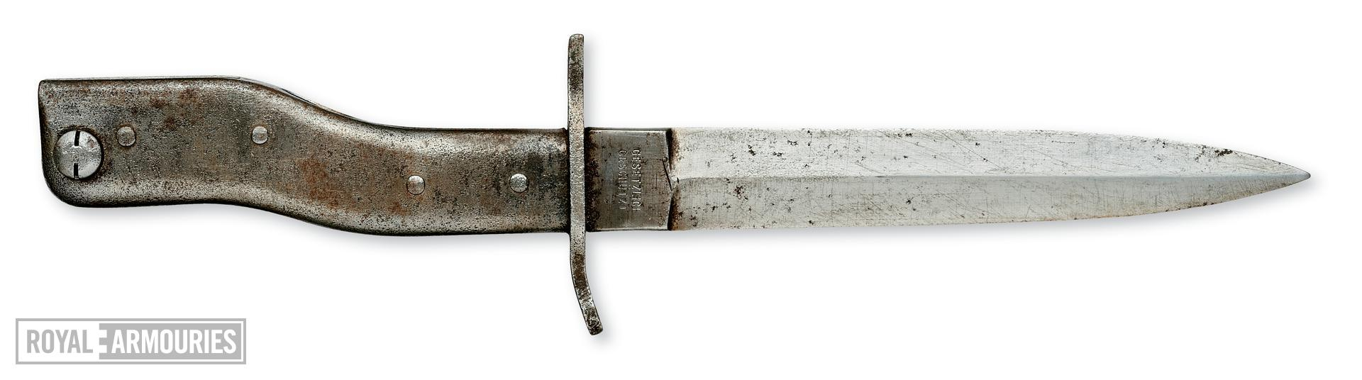 "All metal ""Demag"" type bayonet/trench knife. German, 1914-1918"