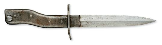 "Thumbnail image of All metal ""Demag"" type bayonet/trench knife. German, 1914-1918"