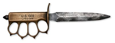 Thumbnail image of Knife Fighting knife US M1918 Mark I Trench Knife, with knuckleduster.
