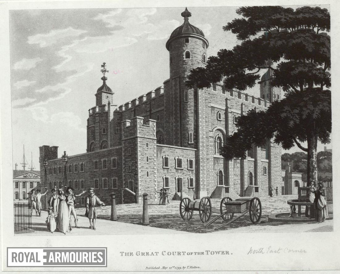Print The Great Court of the Tower, dated 1799