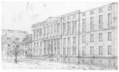 Thumbnail image of Drawing THE ORDNANCE OFFICE FROM THE NORTH AND THE OLD HORSE ARMOURY