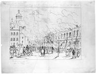 Thumbnail image of Drawing 'Awful Conflagration at the Tower of London', 1841.