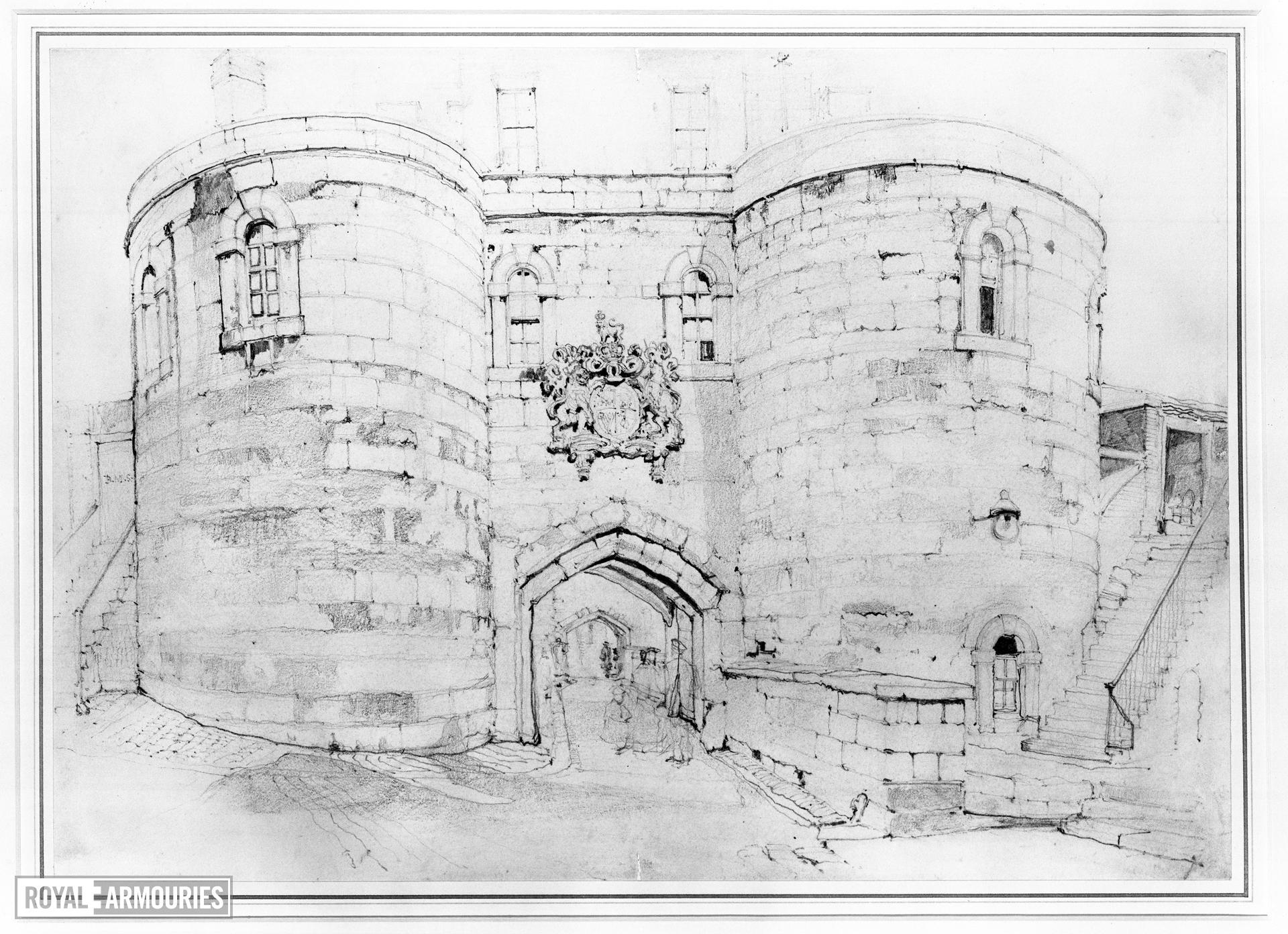 Drawing of the Middle Tower