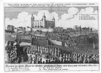 Thumbnail image of Print The execution of Thomas, Earle of Strafford.