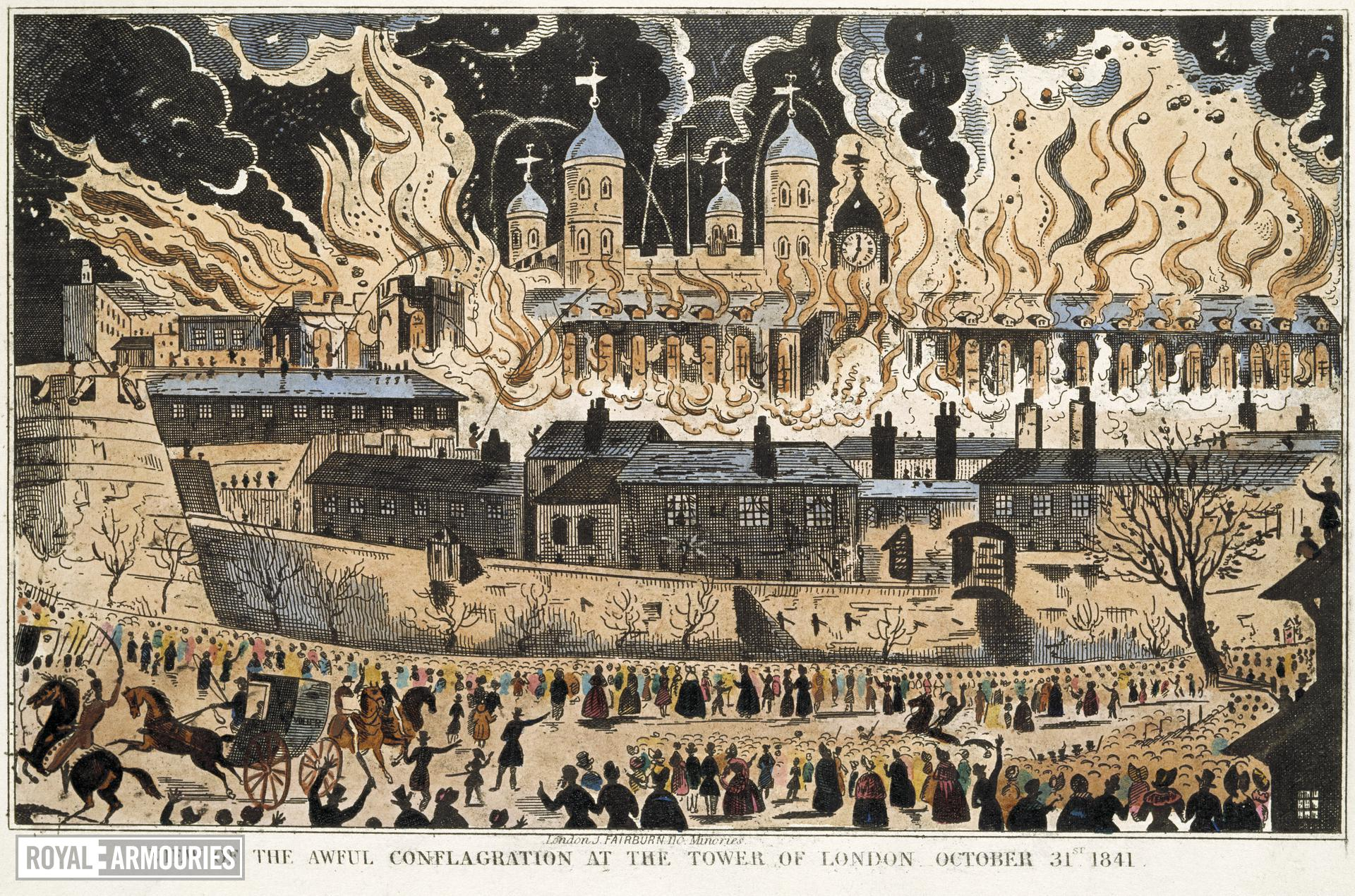 Grand Storehouse Fire at the Tower of London