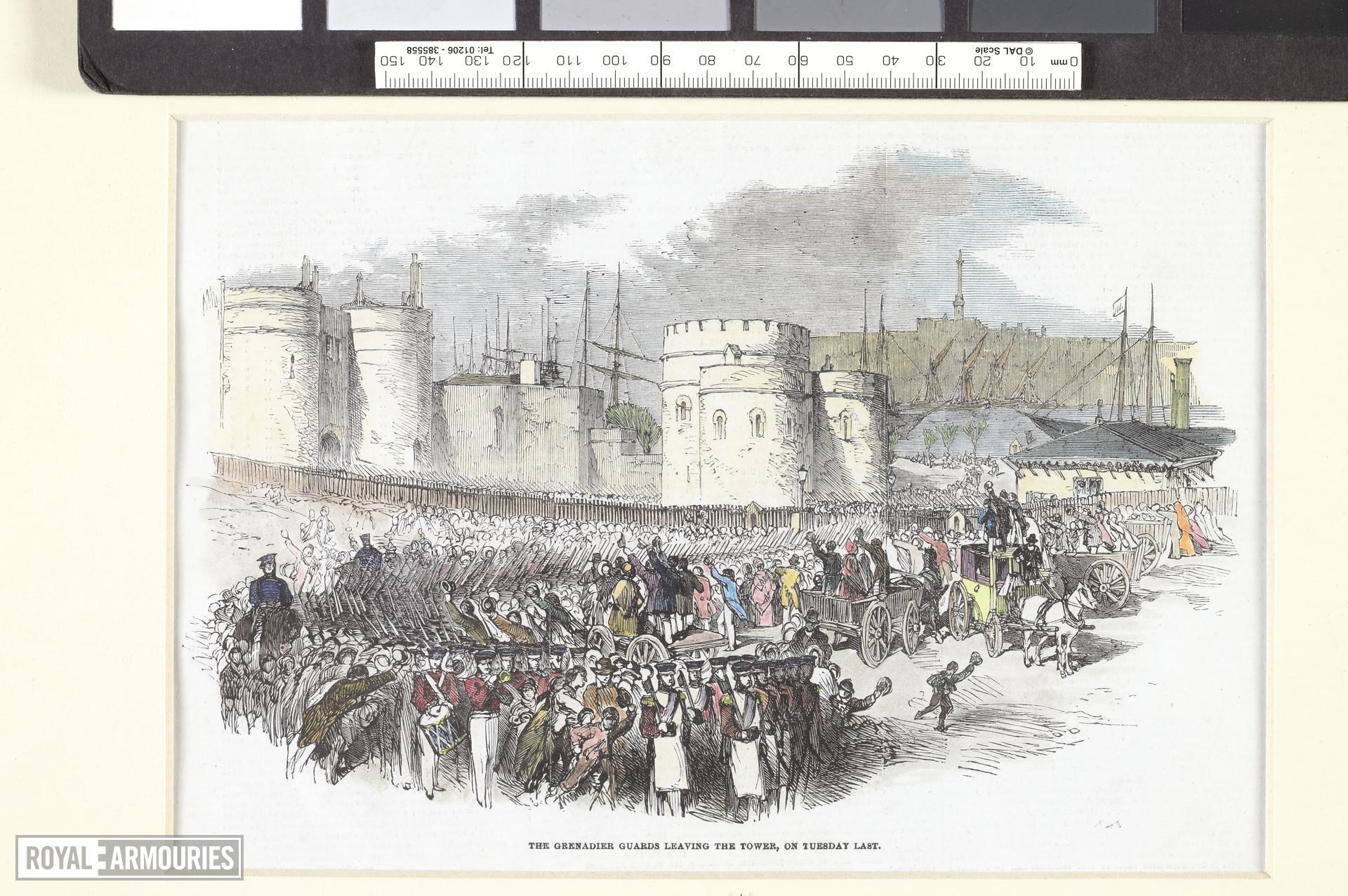 Grenadier Guards leaving the Tower of London