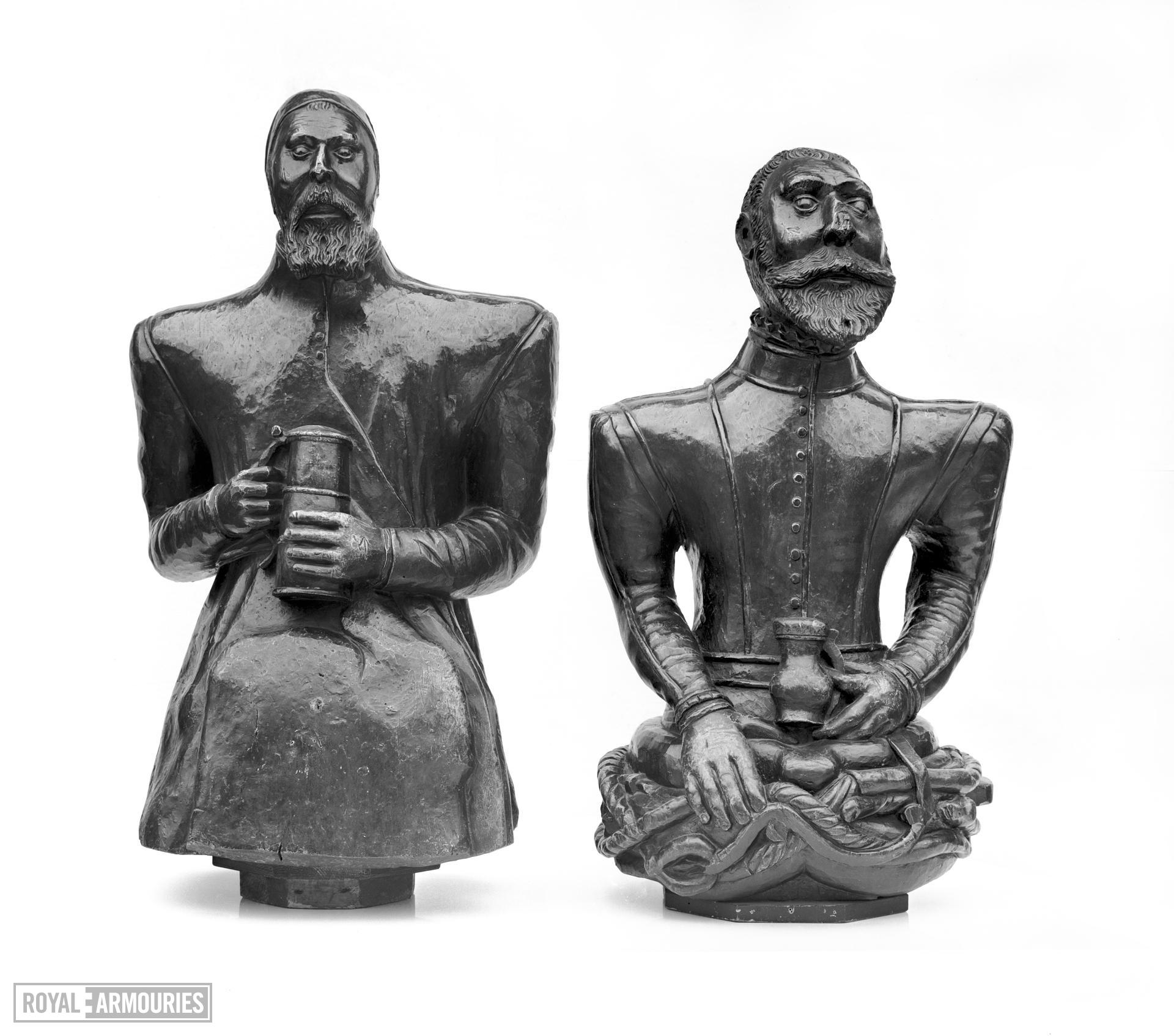Wooden figure Personification of Gin