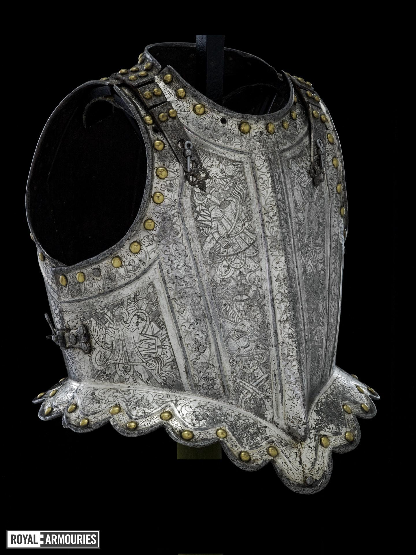 Harquebusier's armour of Charles, Prince of Wales, later King Charles II