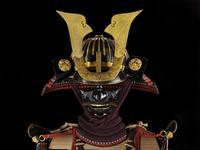 Thumbnail image of Armour (domaru) presented to King James I by Tokugawa Hidetada in 1613. Japanese, about 1610. Made by Iwai Yozaemon of Nambu (XXVIA.1)