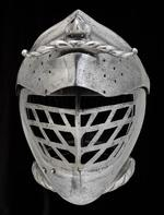 Thumbnail image of Close helmet For the tourney course. 'The moustached helmet.'
