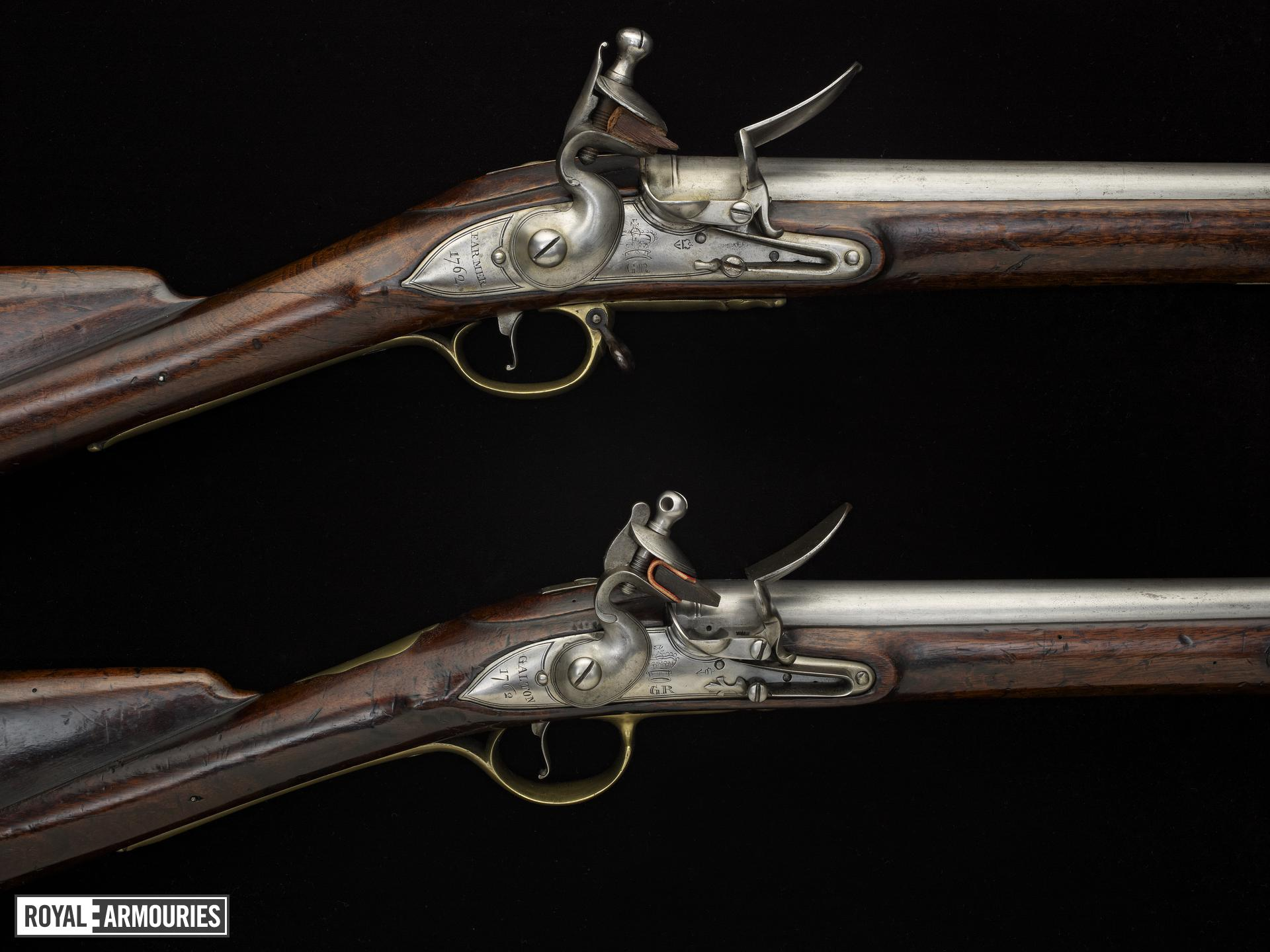 Flintlock muzzle-loading musket - Pattern 1759 Militia New Musket, pattern sample