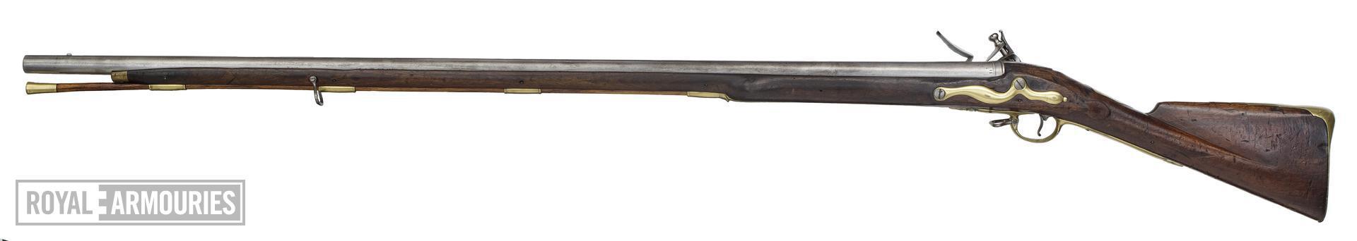 Flintlock muzzle-loading military musket - Long Land Pattern By I. Farmer