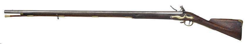 Thumbnail image of Flintlock muzzle-loading military musket - Long Land Pattern By I. Farmer