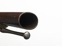 Thumbnail image of Flintlock muzzle-loading blunderbuss - 1781 Burgoyne's Musketoon Steel barrel with elliptical muzzle.