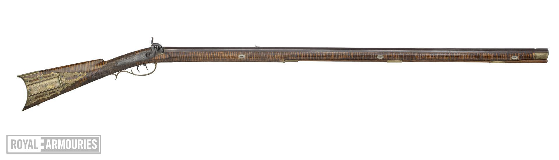 Percussion muzzle-loading target rifle - Kentucky Rifle By H.E. Leman