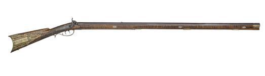 Thumbnail image of Percussion muzzle-loading target rifle - Kentucky Rifle By H.E. Leman