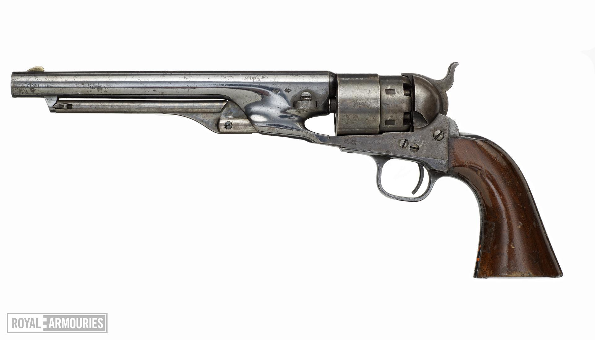 Percussion six-shot revolver - Colt Army Model 1860