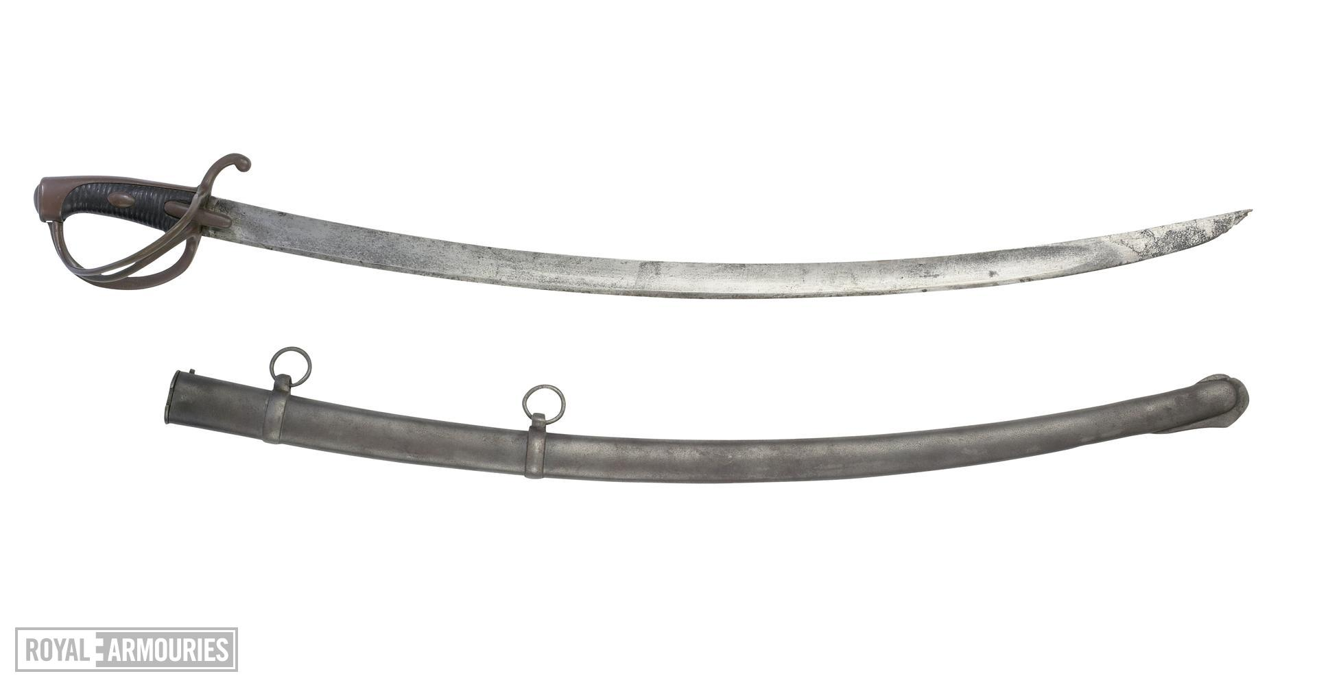 Sabre and scabbard Cavalry sabre and scabbard, Pattern 1826
