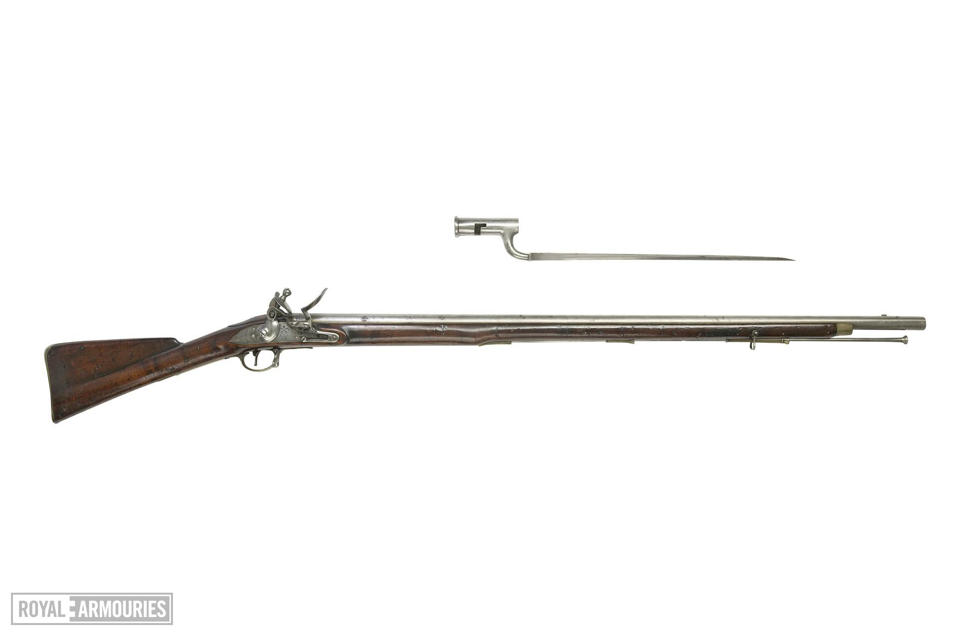 Flintlock muzzle-loading military musket - India Pattern Fitted with bayonet X.1053