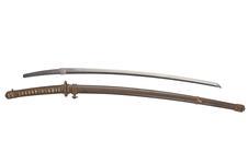 Thumbnail image of Sword (katana) By Bitchu kuni ju Sadatsugu, with military mount and shirasaya.