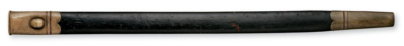 Thumbnail image of Bayonet and scabbard Sword bayonet and scabbard, Pattern 1855 for Sappers and Miners
