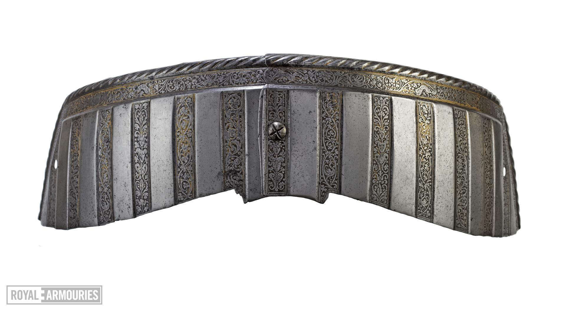 Saddle steel from the Wilton armour of Henry VIII