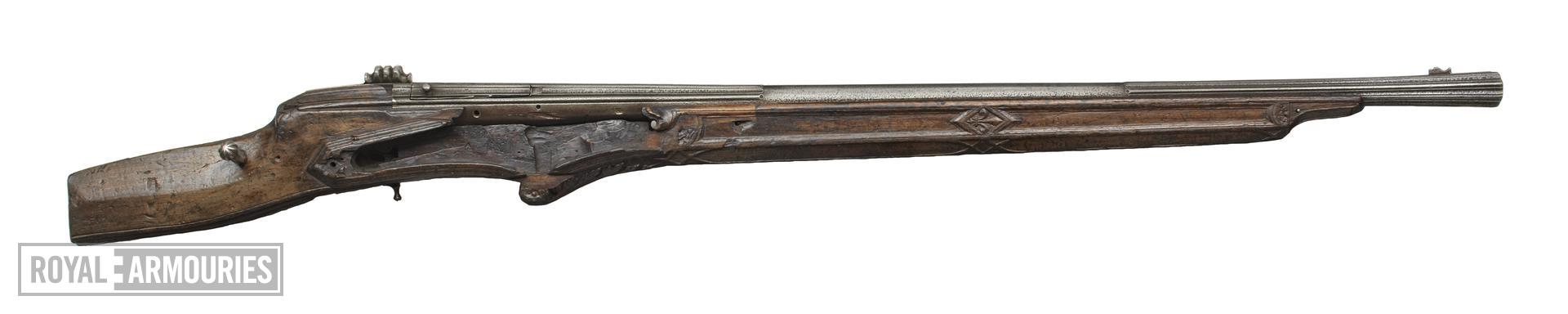Wheellock breech-loading gun Of Henry VIII