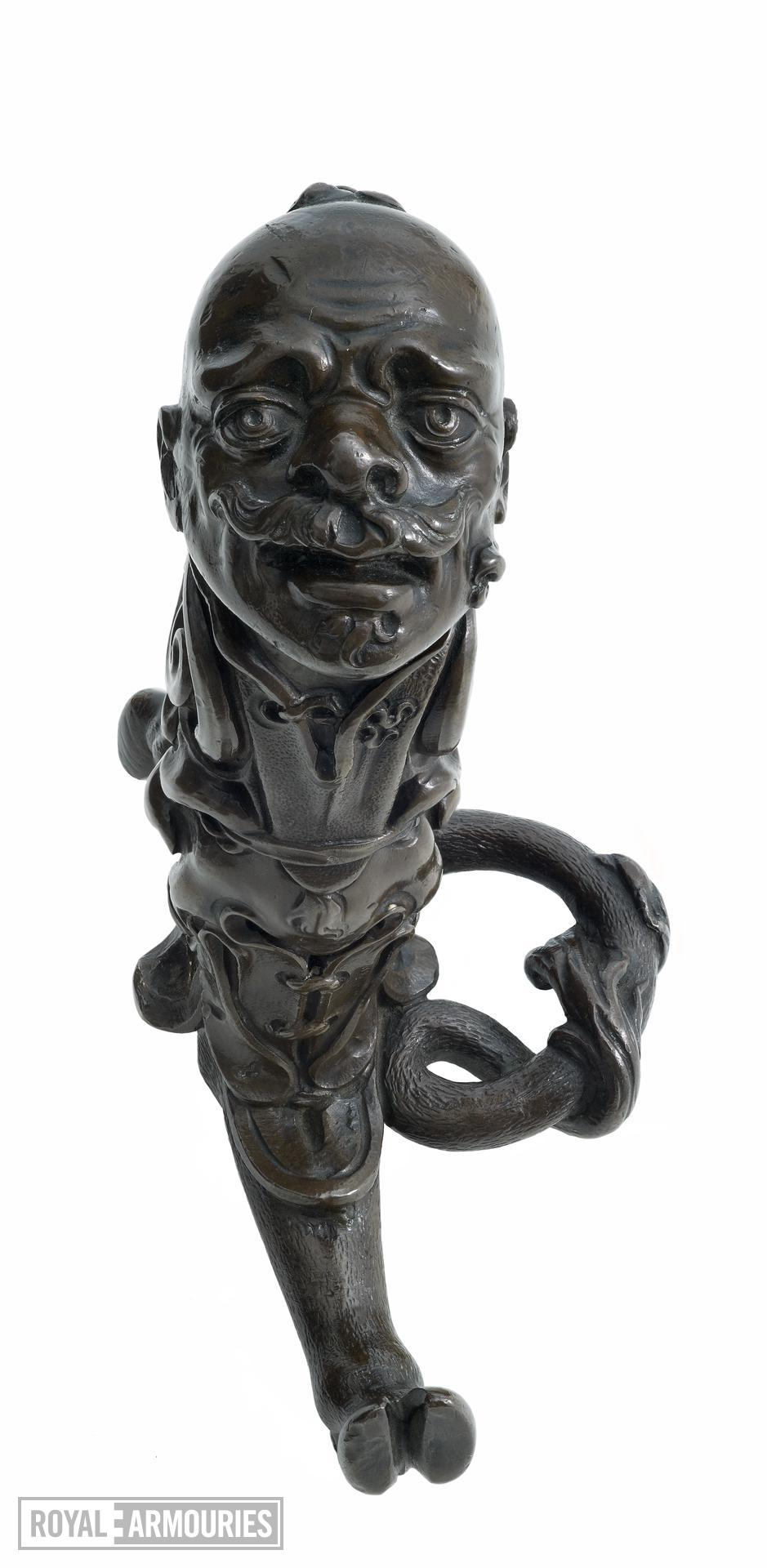 Sword hilt - attributed to Giambologna or Pietro Tacca. Sword hilt in bronze with pommel in form of 'Turkish'/ 'Moorish' head.