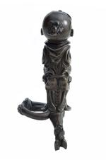Thumbnail image of Sword hilt - attributed to Giambologna or Pietro Tacca. Sword hilt in bronze with pommel in form of 'Turkish'/ 'Moorish' head.