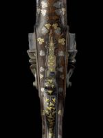 Thumbnail image of Flintlock muzzle-loading double-barrelled shotgun - By Zaoue