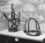 Thumbnail image of Scold's Bridle Stamped with 'arms of Nuremberg'