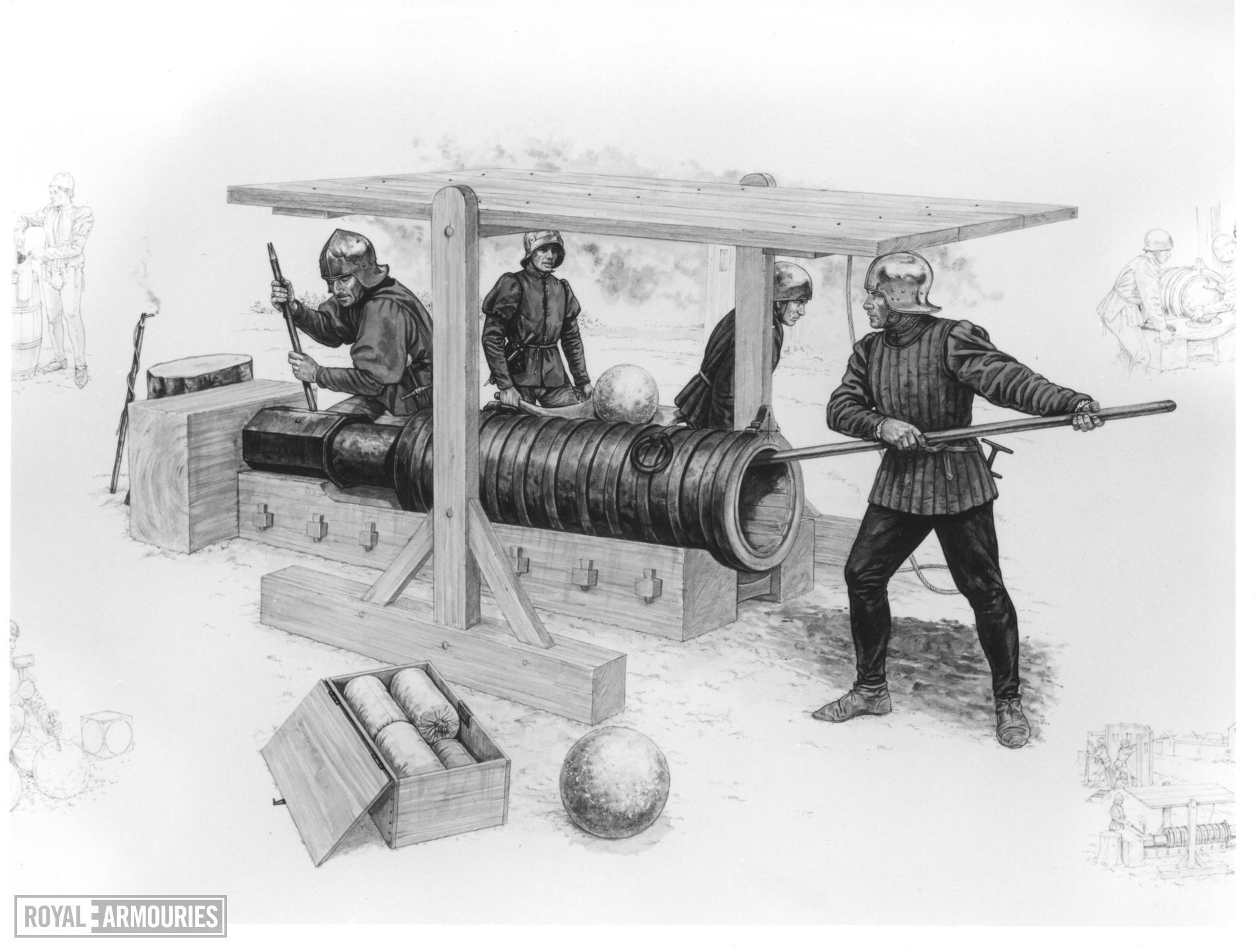 Flintlock muzzle-loading military musket - Lawrence Pattern