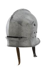 Thumbnail image of Composite armour Consists of II.168 A Sallet; II.168 B Bevor; II.168 C Breastplate; II.168 D Backplate; II.168 E Right pauldron and vambrace; II.168 F Left pauldron; II.168 I Right greave; II.168 J Left greave; II.168 K Vambrace (incomplete)