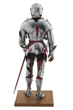 Thumbnail image of Rear view of model of a man at arms in Milanese armour of about 1450. British, 1972. Made by Peter Wroe (II.194)