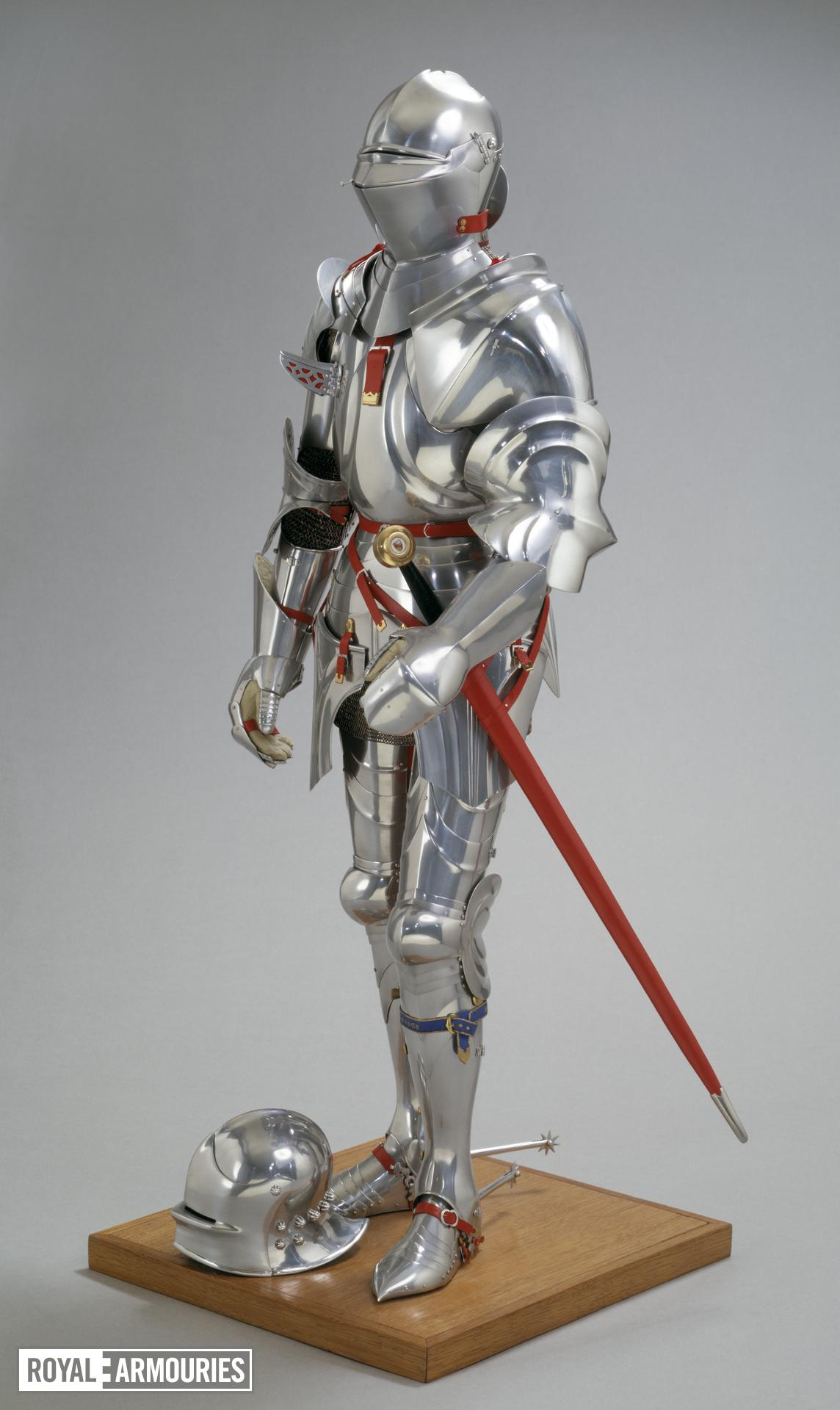 Mannequin and Armour - Model mannequin and Armour The mannequin and the attached armour in the style of Milan about 1450, by Peter Wroe