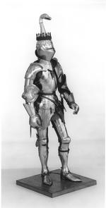 Thumbnail image of Mannequin and Armour - Model mannequin and Armour The mannequin and the attached armour in the style of Milan about 1450, by Peter Wroe