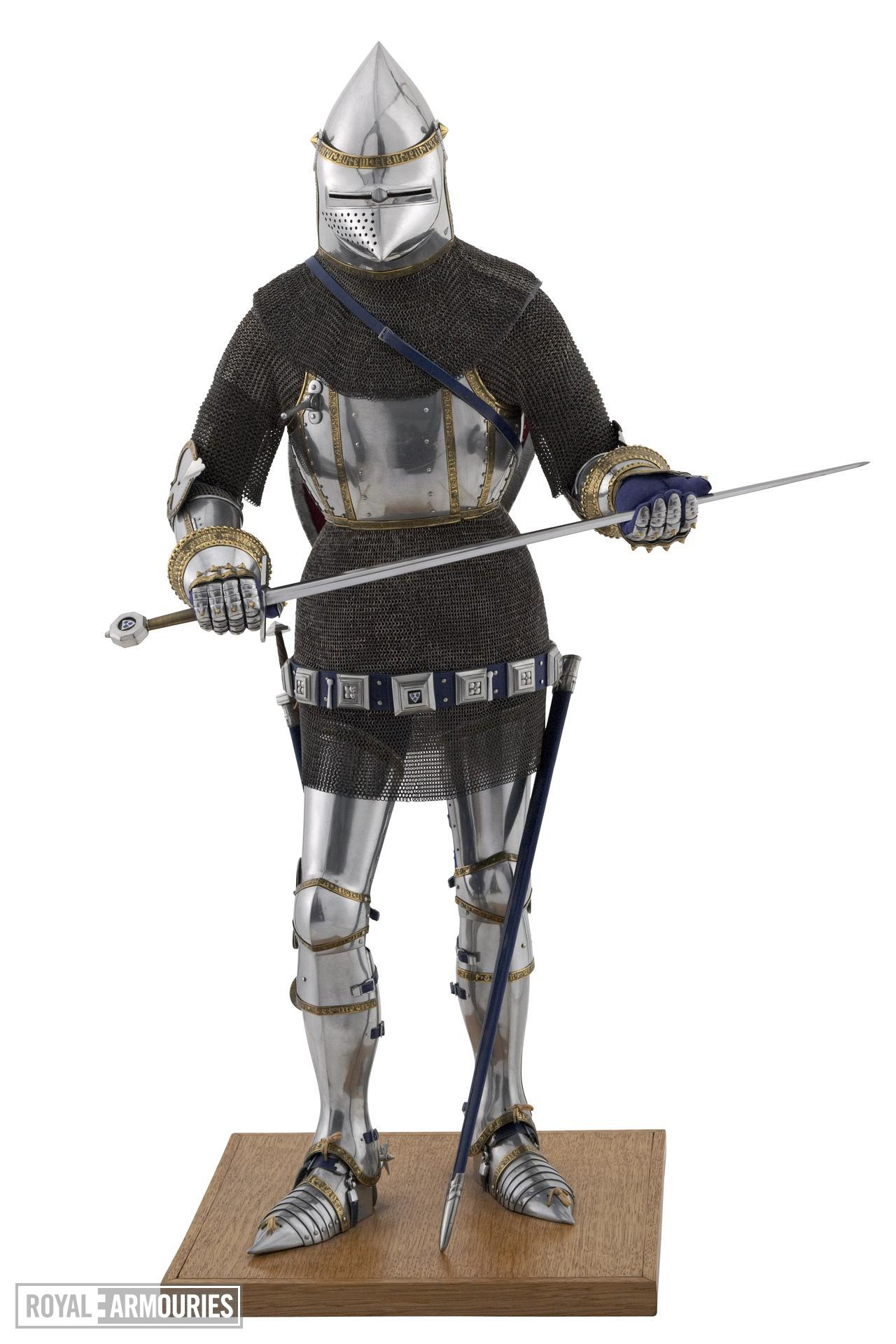 Model of a man at arms in Italian armour of the late 14th century. British, 1975 (II.333)