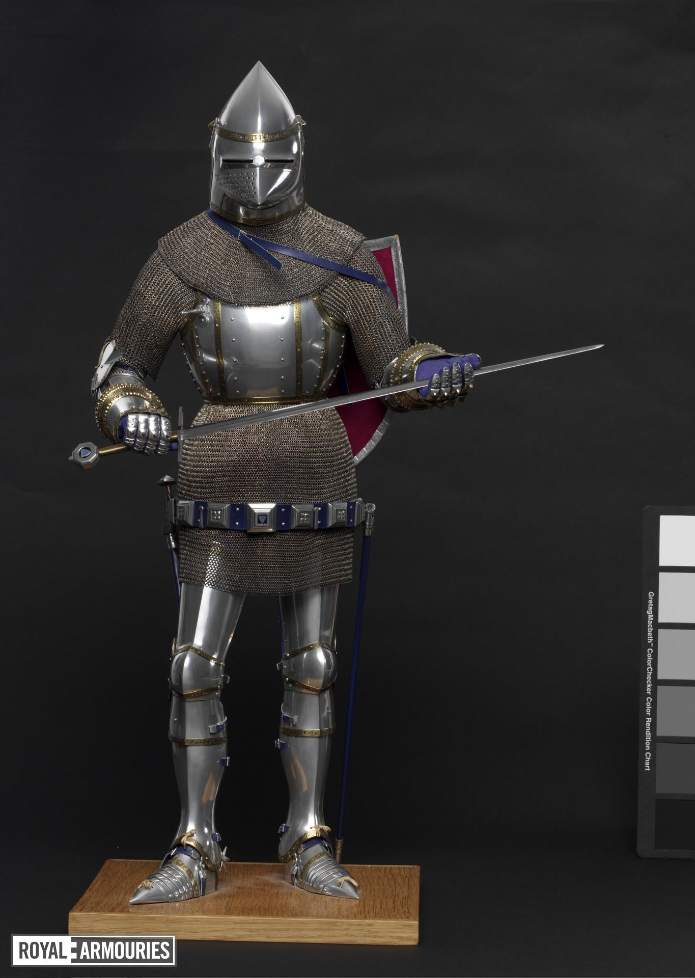 Model armour - Model Armour Model of an Italian armour of the late 14th century, by Peter Wroe