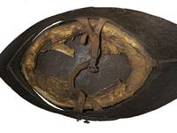 Thumbnail image of Sallet German 'black sallet' with painted decoration