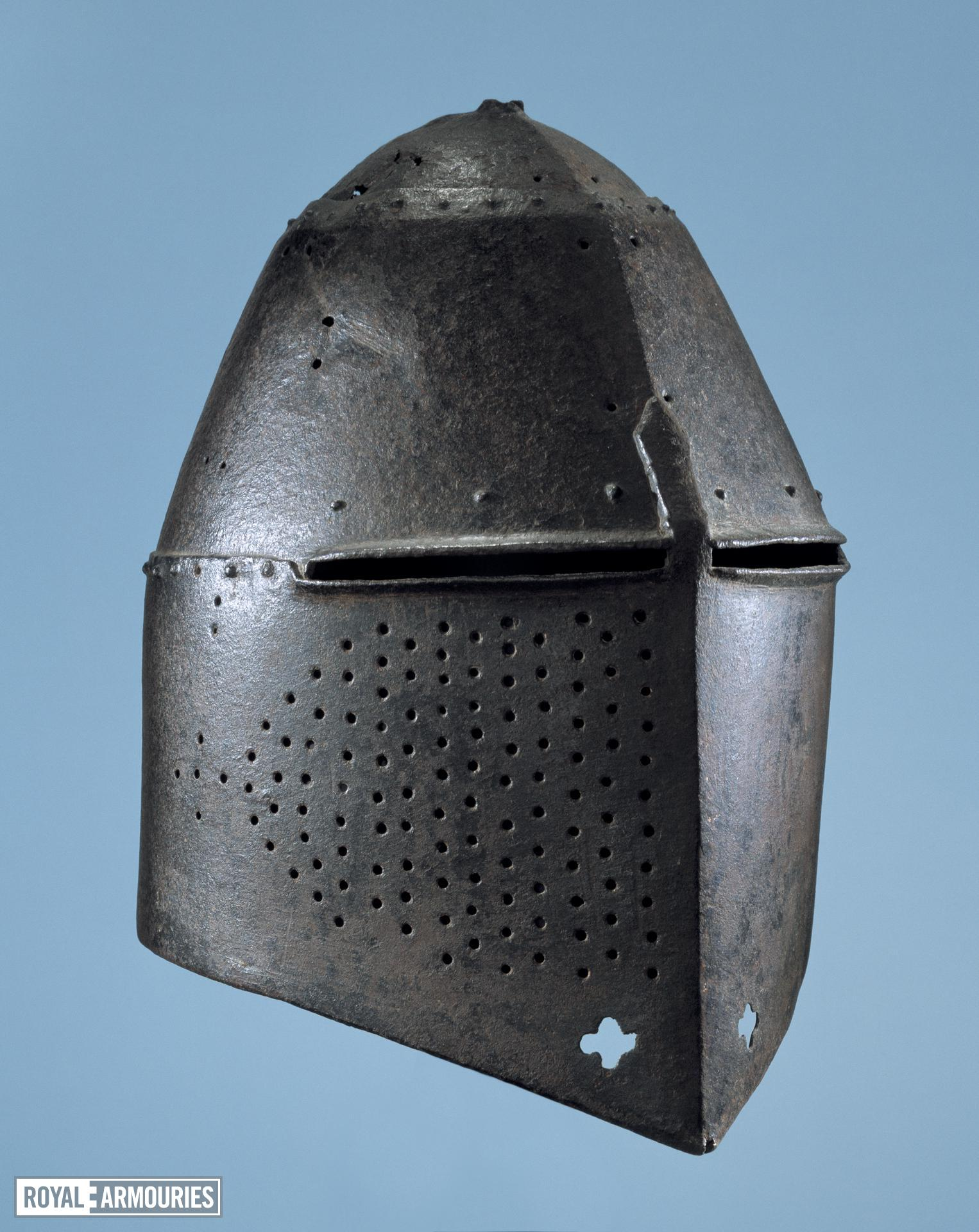 Helm - Great Helm Great helm used as funerary achievement