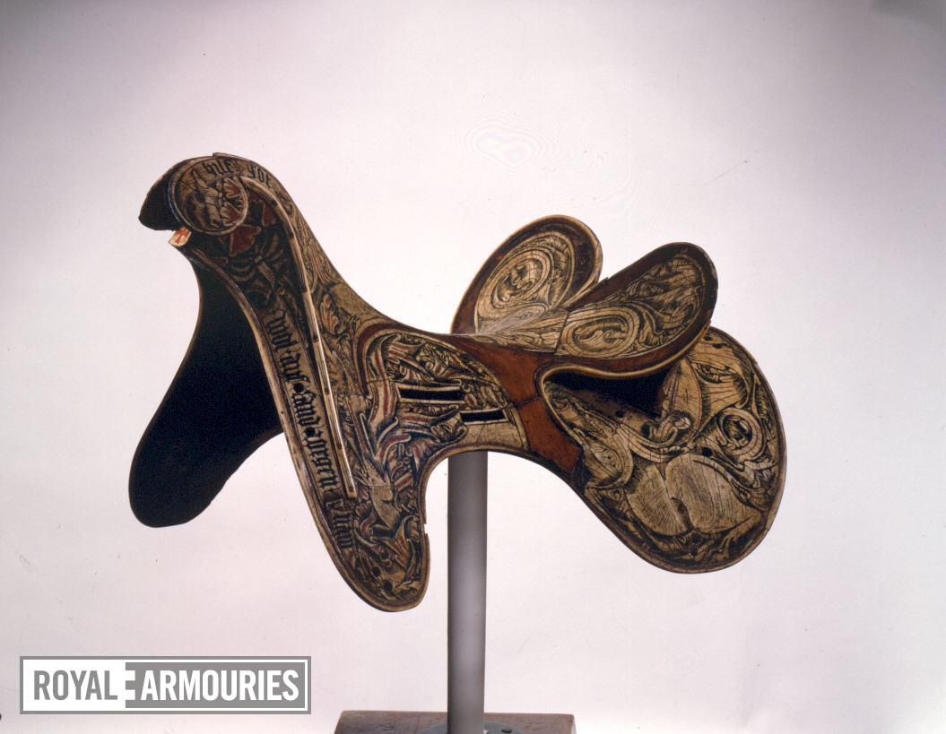 Saddle possibly for the Hungarian Dragon Order, early 15th century, Austria (VI.95)