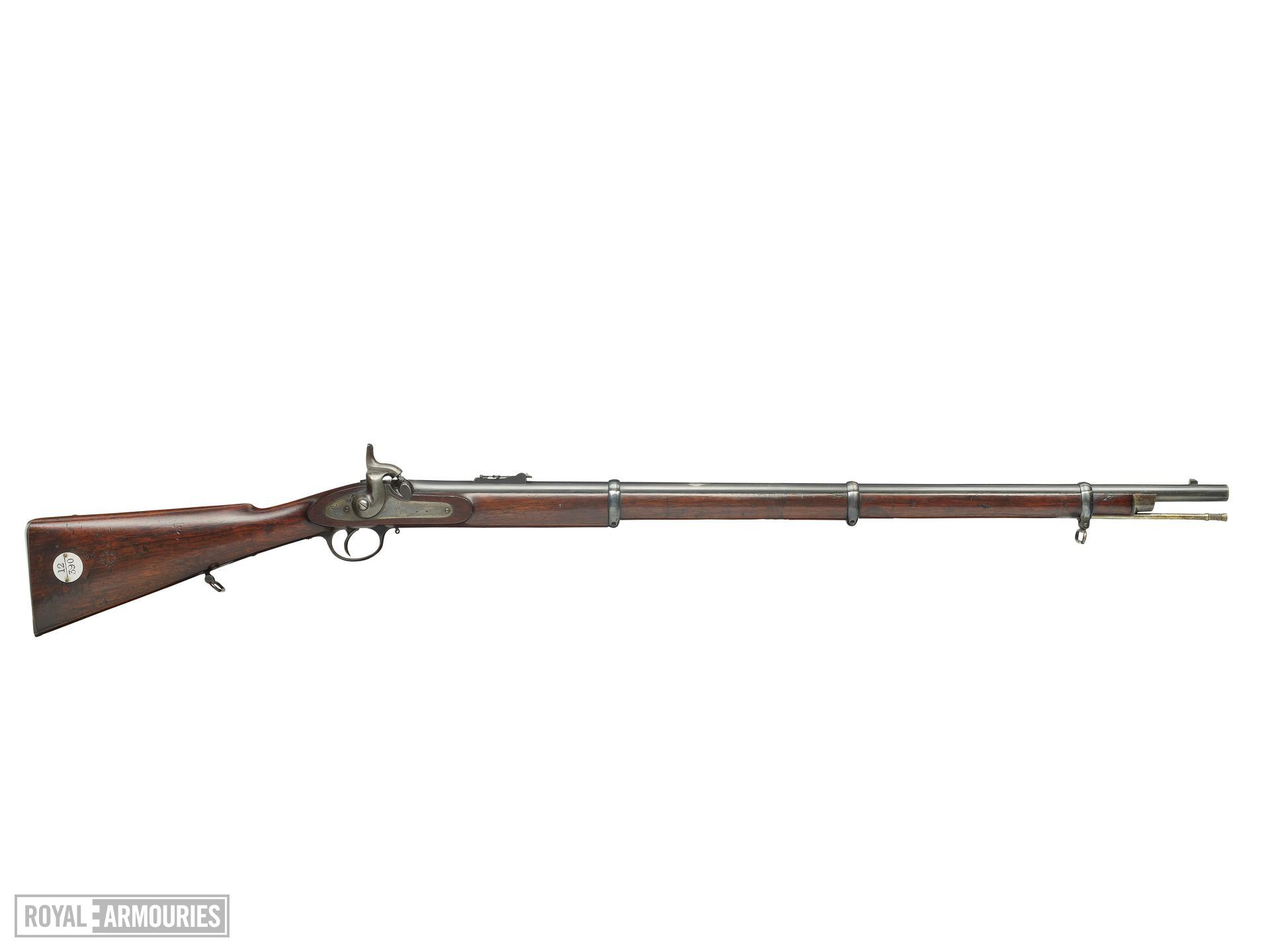 Percussion muzzle-loading military rifle - Enfield-Whitworth Pattern 1862