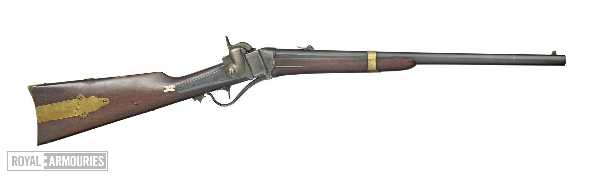 Percussion breech-loading military carbine - Sharps Model 1852 (John Brown)