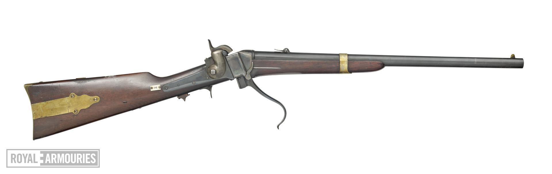 Percussion breech-loading military carbine - Sharps Model 1852