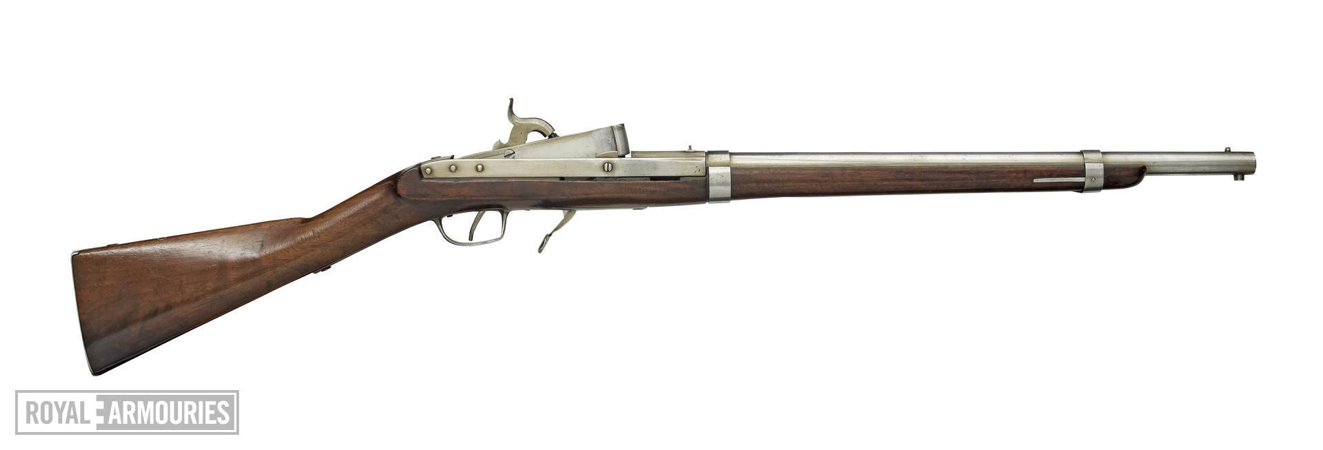 Percussion breech-loading military carbine - Model 1840 Hall Carbine