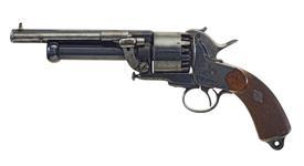 Thumbnail image of Percussion nine-shot revolver and shot pistol - Le Mat